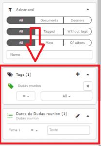Filter by data fields